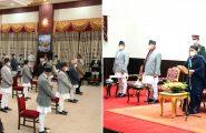 सम्माननीय राष्ट्रपति श्रीमती विद्यादेवी भण्डारीज्यूबाट मन्त्रिपरिषद् गठन