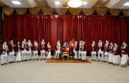 सम्माननीय राष्ट्रपति श्रीमती विद्यादेवी भण्डारीज्यूबाट ३२औँ गृष्मकालीन ओलम्पिक खेलमा भाग लिने नेपाली खेलाडीहरूलाई विदाई